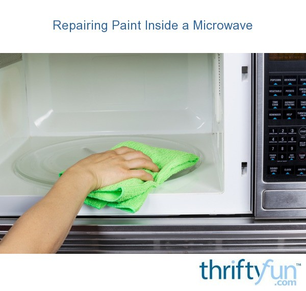 repairing chipped paint inside a microwave thriftyfun. Black Bedroom Furniture Sets. Home Design Ideas