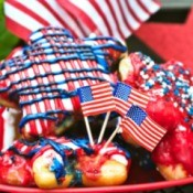 Fourth of July Doughnuts