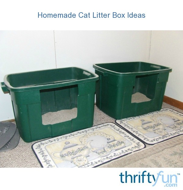 Homemade cat litter box ideas thriftyfun - Cat litter boxes for small spaces design ...