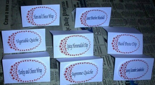 Making Food Labels for Parties   ThriftyFun