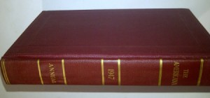 Red leather bound annual.