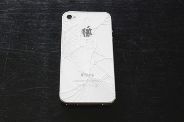 white cracked iphone 4 case
