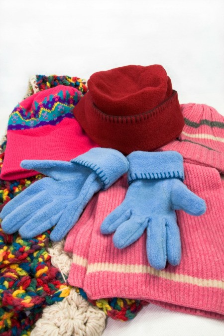 Fleece Hat, Gloves and Scarf