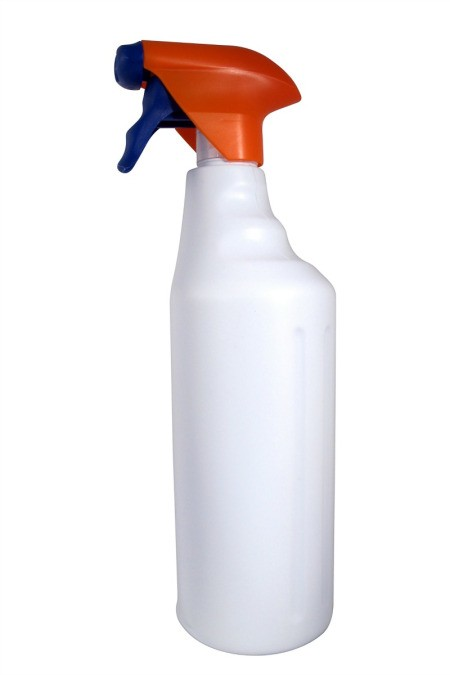 A white bottle of household ammonia.