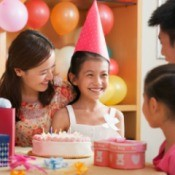 Home Decorated for Girl's Birthday Party