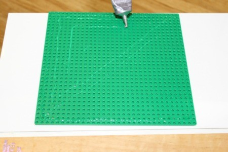 glue on baseplate
