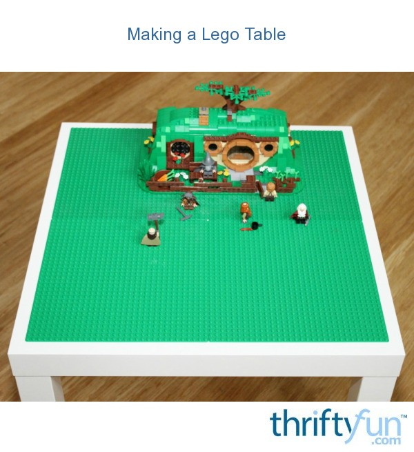 Build Your Own Garage >> Making a Lego Table | ThriftyFun