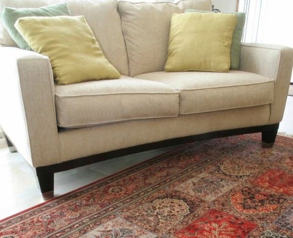 how to fix melted fabric on couch