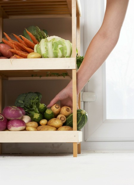 Vegetables on Small Shelf