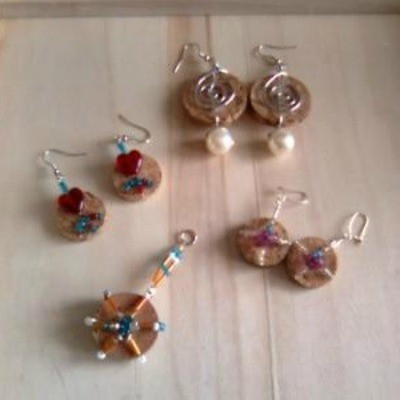 Wine Cork Earrings or Charms