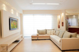 Living room with nice interior design.