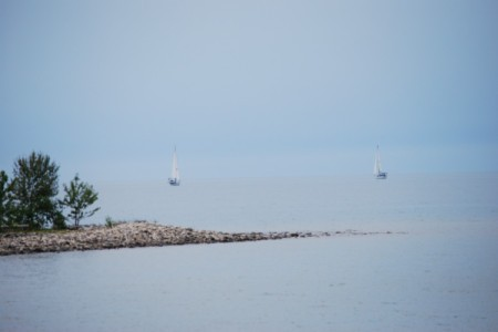Sailboats in Flight (Port Elgin, Ontario)