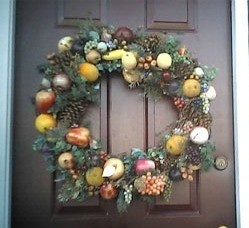 Plastic Fruit Wreath