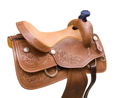 Brown Leather Saddle