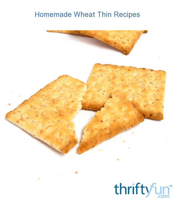 Homemade Wheat Thins Recipes   ThriftyFun
