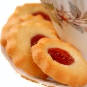 Jam filled cookie