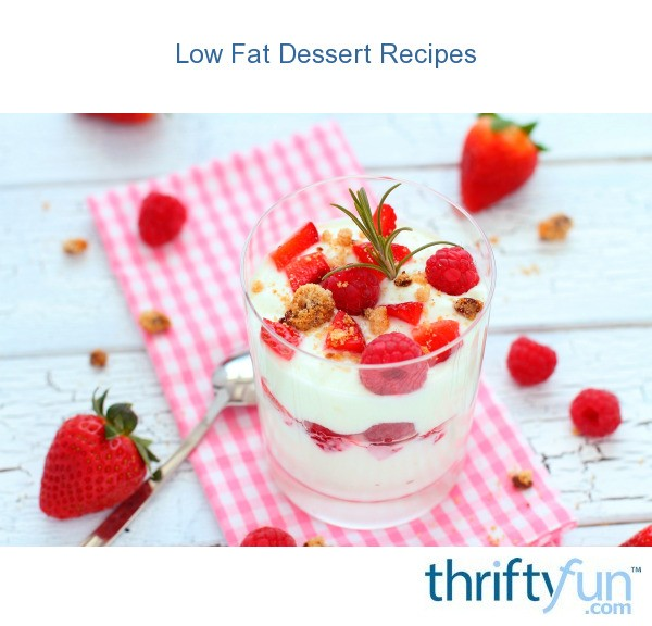 Low Fat Celebration Cake Recipes: Low Fat Dessert Recipes