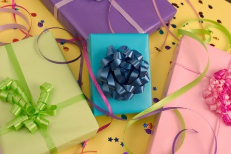 Several wrapped gifts.