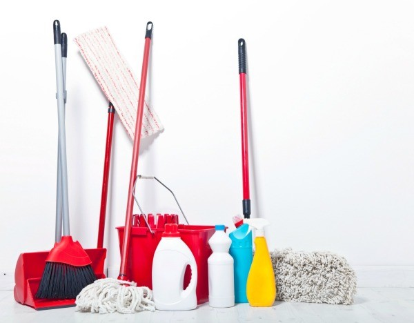 Utility Mop : An untidy mess can develop in a utility closet or corner of the ...