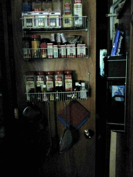Pallet Door Spice Rack