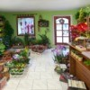 A photo of the inside of a flower shop.