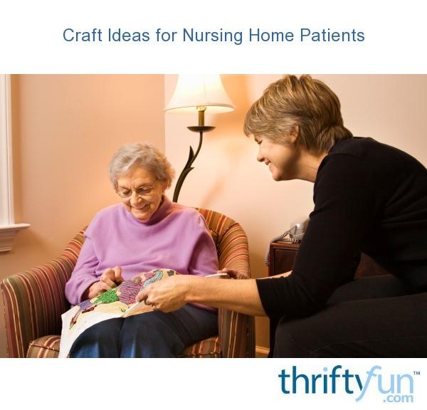 craft ideas for nursing home patients