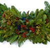 Christmas garland made of pine boughs.