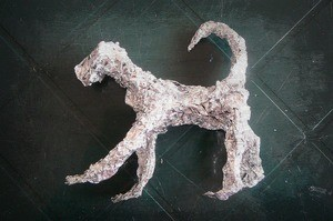 Aluminum Foil Dog Sculpture