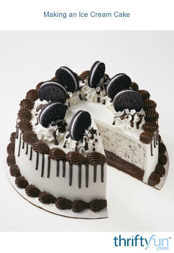 Design Your Own Ice Cream Cake : Making an Ice Cream Cake ThriftyFun
