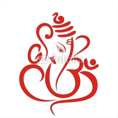Ganesha as stylized logo.