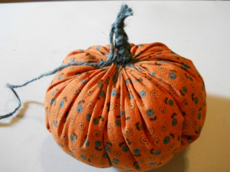 Pumpkin with finished stem.