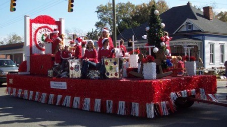 Christmas float.