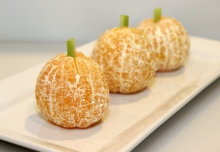 pumpkin oranges on plate