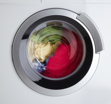 A washing machine spinning.