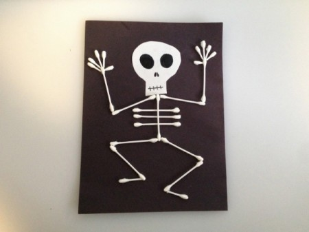 q tip skeleton template - halloween skeleton crafts thriftyfun