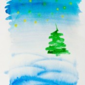 Watercolor Christmas card.
