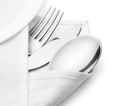 Linen Napkins and Silverware