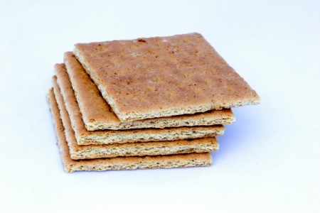 A stack of graham crackers.