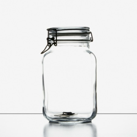 Empty jar that you can use for a gift mix.