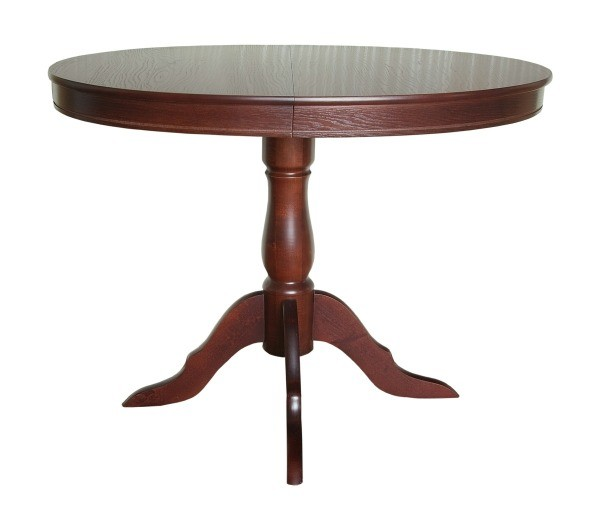 A wood table with a varathane finish.