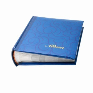 A photo album, great to use for storing embossing plates.