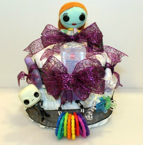 Making A Nightmare Before Christmas Diaper Cake Thriftyfun
