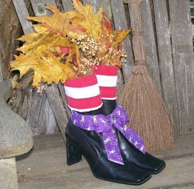 Witch Boot Centerpiece