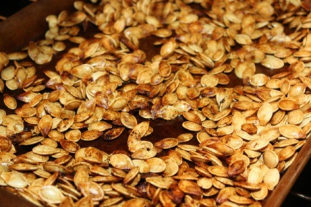 roasted seeds upclose