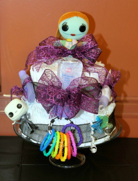 A Nightmare Before Christmas diaper cake.