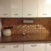 Vintage 1950's metal kitchen cabinets.