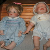 Girl and boy baby doll.