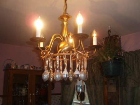 Thanksgiving chandelier.