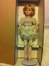 Ballerina doll in box.