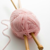 knitting needles and yarn